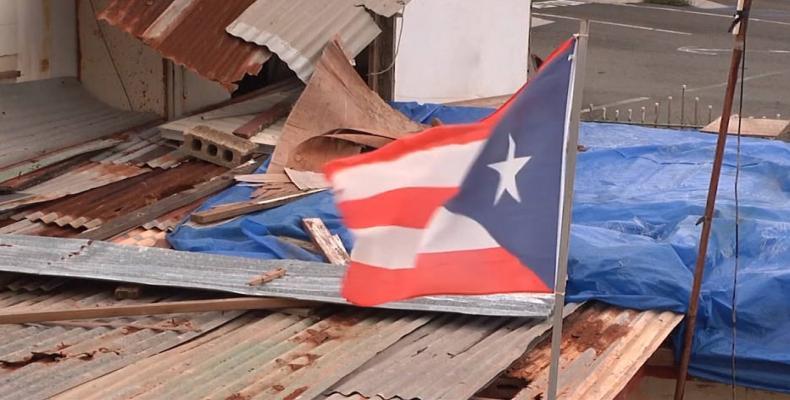 Donald Trump falsely accuses Puerto Rico of spending hurricane aid on debt.  Photo: AP