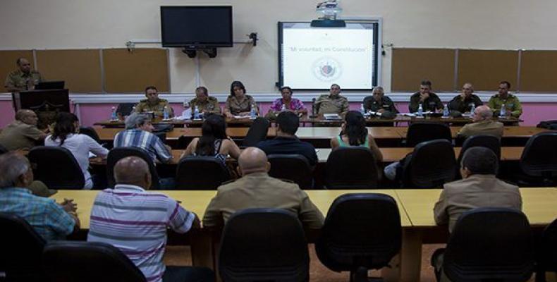 La conferencia de prensa tuvo lugar en el Instituto Técnico Militar José Martí, Orden Antonio Maceo y Orden Carlos Juan Finlay. Foto: Irene Pérez/ Cubadebate.