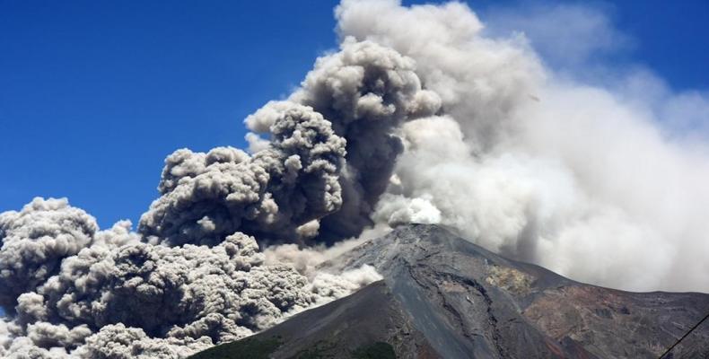 Volcán Fuego de Guatemala.Imágen:Internet.