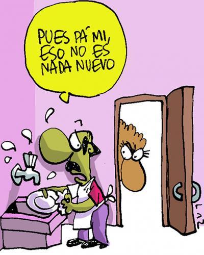 Hogar en Cuba. Caricatura: LAZ