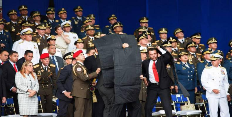 Attempted assassination of President Nicolas Maduro on August 4.  Photo: Reuters