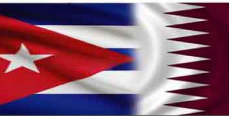 Vice-chanceler cubano recebe ministro de Relações Exteriores do Catar.