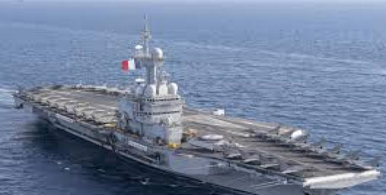 French aircraft carrier Charles de Gaulle. (Photo: Google)