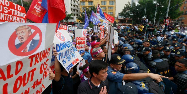 Protestas Anti Trump en Filipinas. Foto: Bullit Marquez