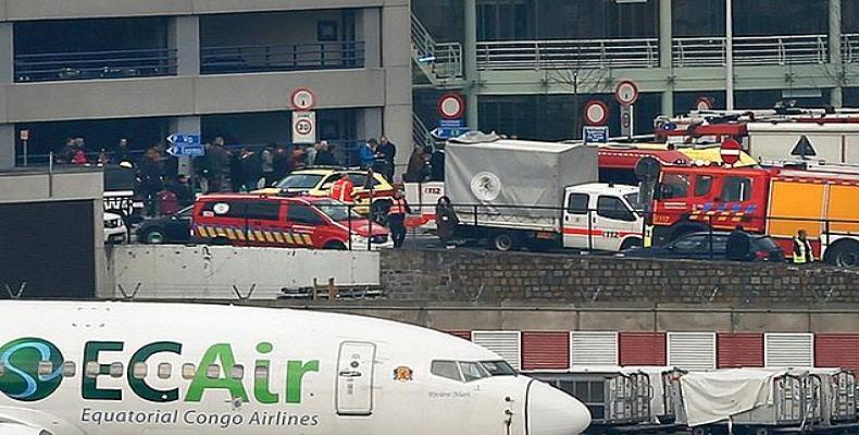imagen tomada de Internet de los atentados terroristas en Bruselas