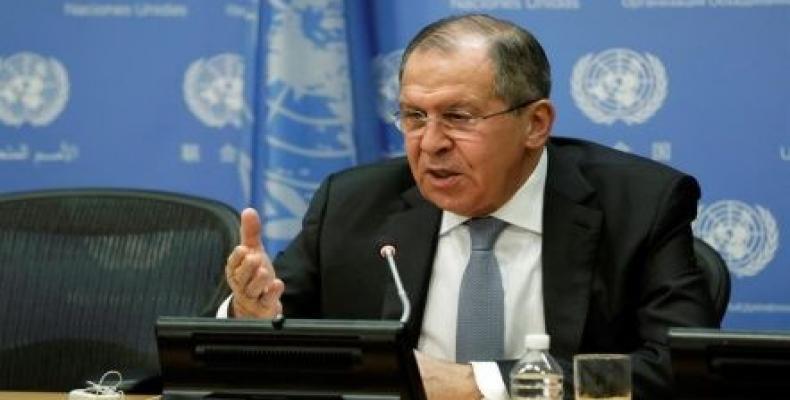 La rusa ministro pri eksteraj rilatoj, Seguéi Lavrov