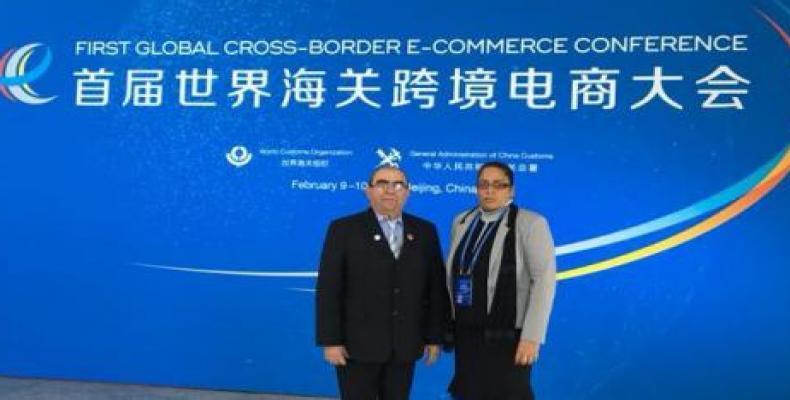 Cuba participó en la Primera Conferencia Mundial de Comercio Electrónico Transfronterizo, en Beijing.Foto:Cubaminrex.