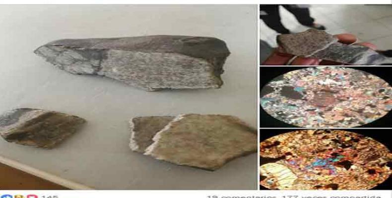 Estos fragmentos constituyen ahora parte del patrimonio científico de nuestro país. Foto tomada de PL