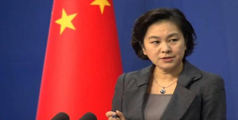 Hua Chunying, portavoz del Ministerio chino de Relaciones Exteriores, rechazó la reciente Revisión de Defensa Antimisiles del Pentágono.Foto.Internet.