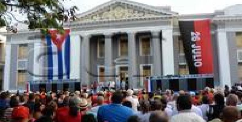 Acto central por el aniversario 59 de la sublevación Armada del 5 de Septiembre de 1957, en Cienfuegos.