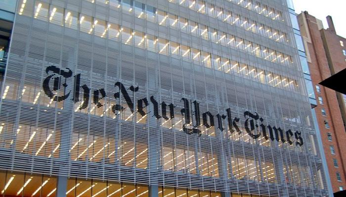 The New York Times building in Manhattan.  Photo: AP