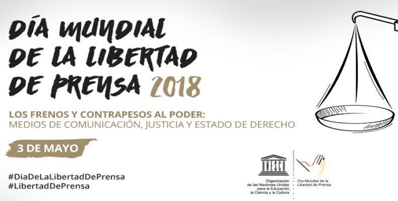 Unesco promueve la celebración del Día Mundial de la Libertad de Prensa con actos conmemorativos.Foto:Org.