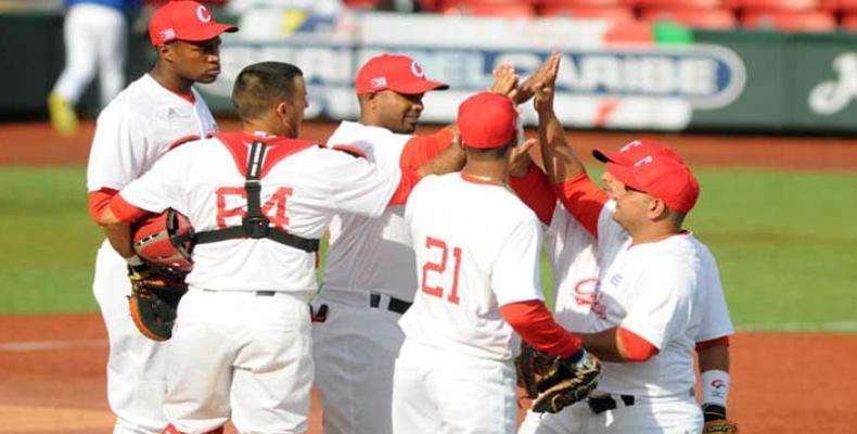 Cuba celebra primer triunfo en Serie del Caribe Jalisco-2018: Foto: Vladimir Molina