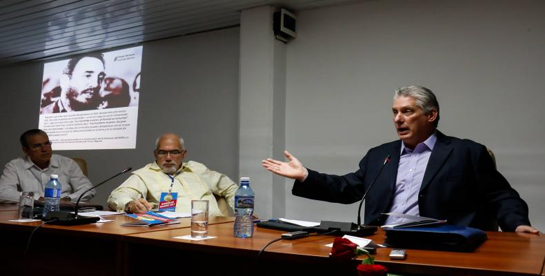 El primer vicepresidente de Cuba, Miguel Díaz-Canel, instó a perfeccionar el movimiento deportivo cubano.Foto:Calixto N. LLanes.