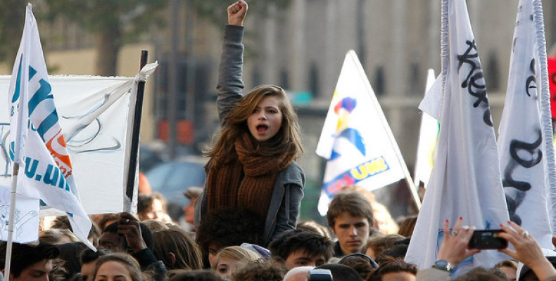 Protestas en Francia.