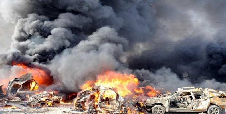 imagenes de los atentados en Alepo