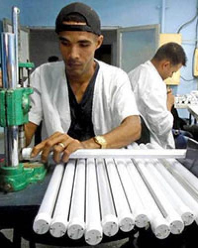 Trabajadores en pleno proceso productivo. Foto: Ronald Suárez