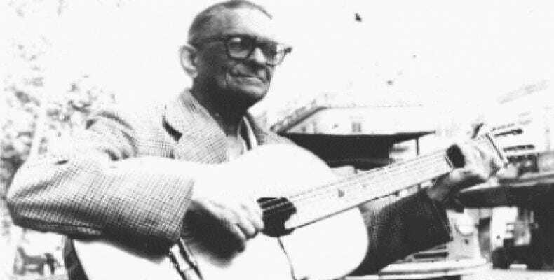 Compositor y cantante cubano Benito Antonio Fernández, conocido como Ñico Saquito.Imágen:Internet.