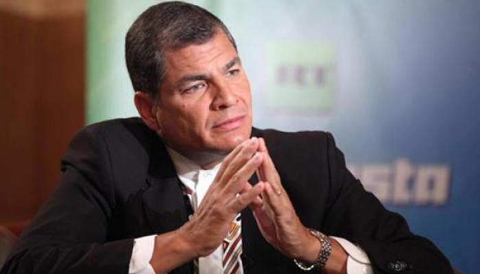 Presidente de Ecuador, Rafael Correa,