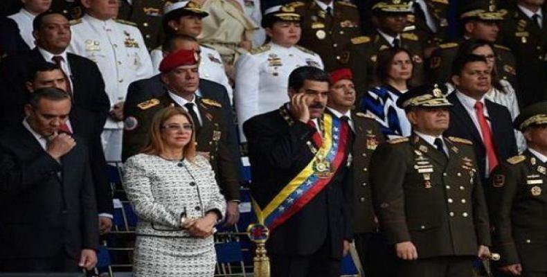 Nicolas Maduro at Saturday's ceremony in Caracas.  Photo: teleSUR