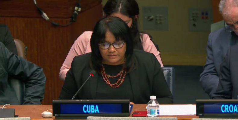 Cuba´s Permanent Representative to the United Nations, Anayansi Rodriguez.