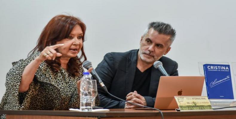 Cristina Fernández de Kirchner launches her book 'Sincéramente' at the Cuban 2020 Book Fair