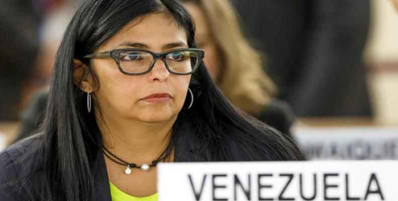 Ministra de Relaciones Exteriores de Venezuela, Delcy Rodríguez
