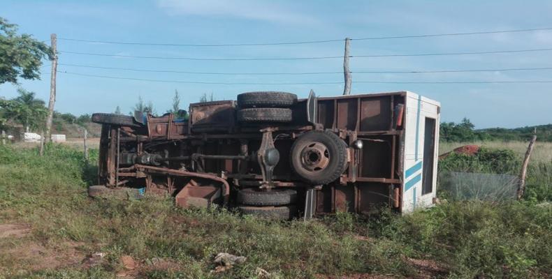 Accidente masivo en Camagüey.Foto:Radio Cadena Agramonte.