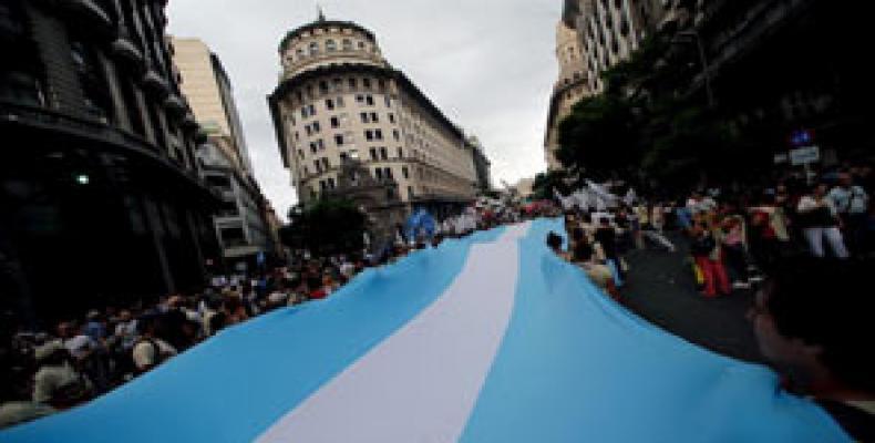 Anterior moviliZación en Buenos Aires.  Foto Archivo