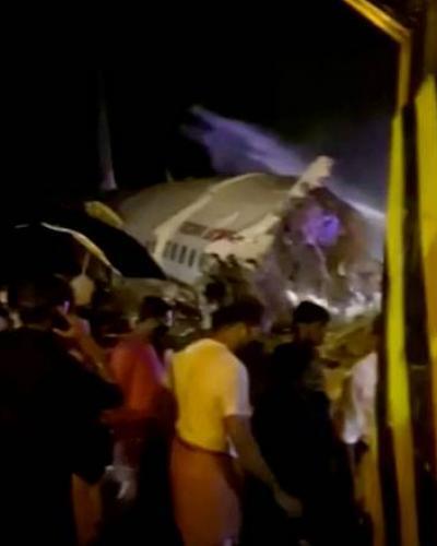 El boeing 737 se ha partido en dos debido al impacto ANI/Reuters TV/via REUTERS