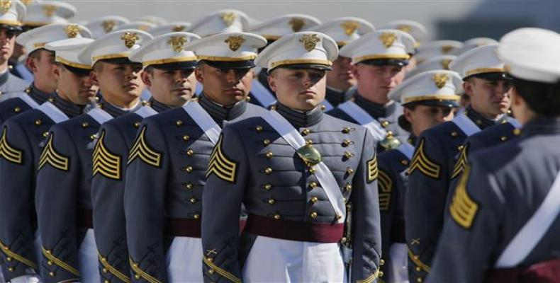 West Point graduates arrive for the U.S. Military Academy Class of 2017 graduation ceremony at Michie Stadium on May 27, 2017 in West Point, New York.  Photo: G