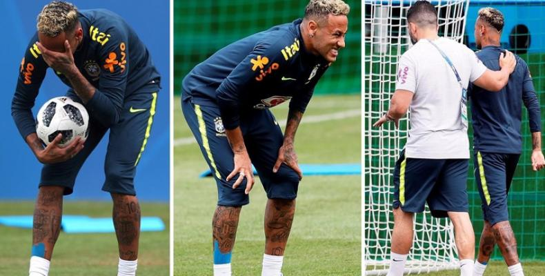 Neymar con molestias en Rusia-2018. Foto: PL