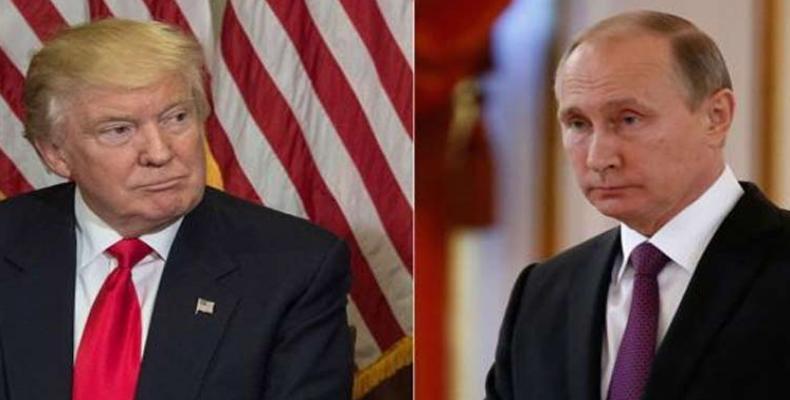 Donald Trump y Vladimir Putin. Foto: Archivo