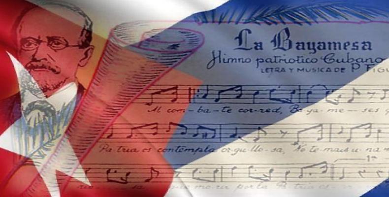 Memorigo pri la unuafoja kantado de la himno La Bayamesa