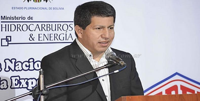 Ministro de Hidrocarburos de Bolivia Luis Sánchez, anunció inversión millonaria en la importante área productiva del país.Imágen:Internet.