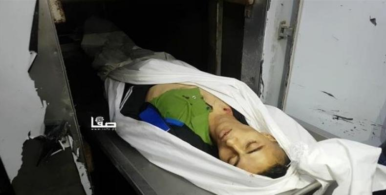 'Alaa Abu Sherbin was killed by Israeli fire during a protest near the Gaza fence on November 8, 2018.  Photo: Safa news agency