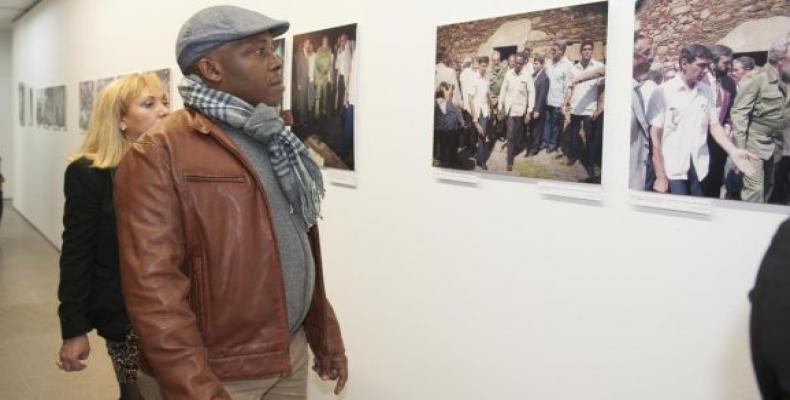 Todas las fotos de la exposición fueron tomadas en su día por el fotógrafo Nardo Novoa. (Foto: Miguel Ángel Alvelo)