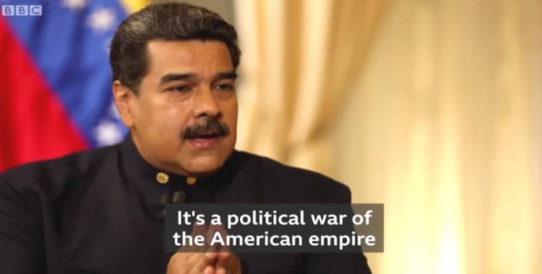 Venezuelan President Nicolas Maduro in an interview with BBC blasts myths about the country created by Western Media.   Photo: Twitter / @PresidencialVen