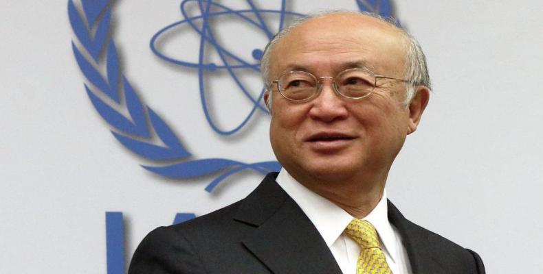 director general del OIEA, Yukiya Amano. Foto: archivo