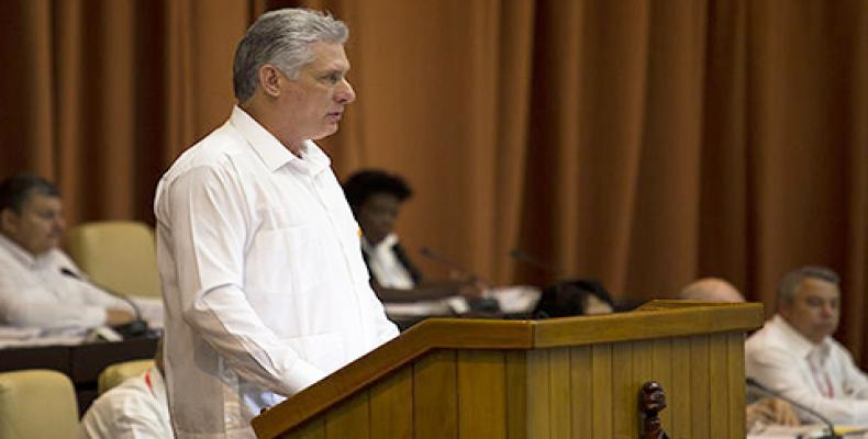 Cuban president Miguel Diaz-Canel proposes the new Council of Ministers to the National Assembly (Cubadebate Photo)
