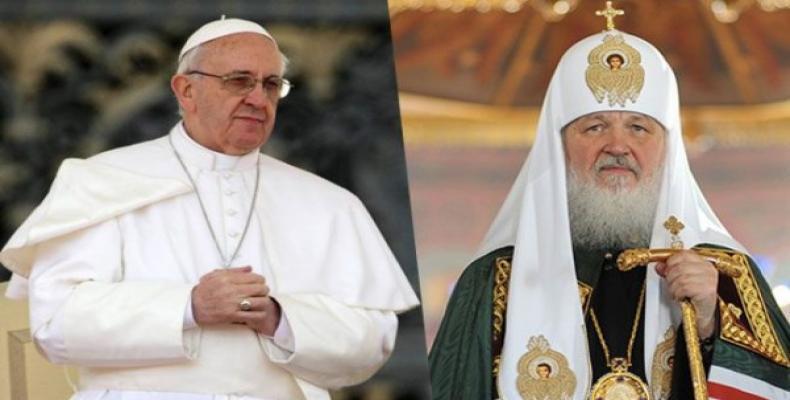 Papa Francisco y Patriarca de Moscú, Kirill