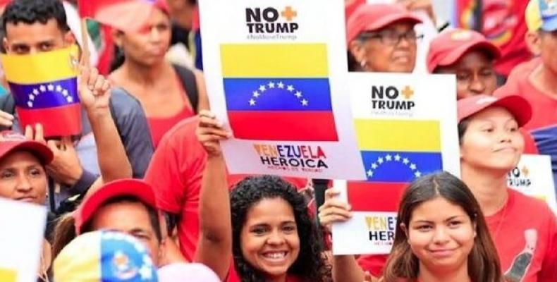 Thousands of Venezuelans took to the streets for the #NoMoreTrump campaign. (Photo: Venezuelan Ministry of Communications)