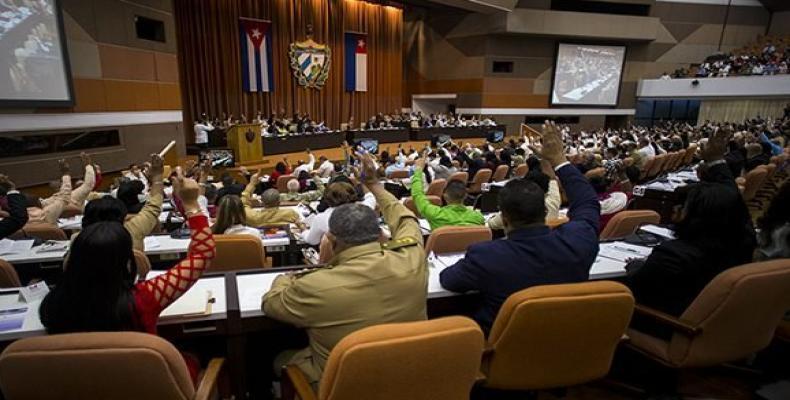 Los parlamentarios cubanos también agradecen a quienes condenan el criminal bloqueo contra todo nuestro pueblo. Foto: Irene Pérez/ Cubadebate