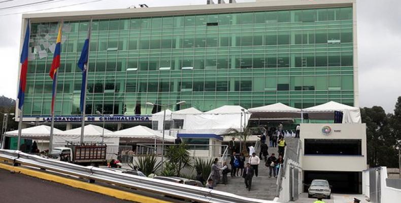 Laboratorio de criminalística en Ecuador (Foto/www.elciudadano.gob.ec)