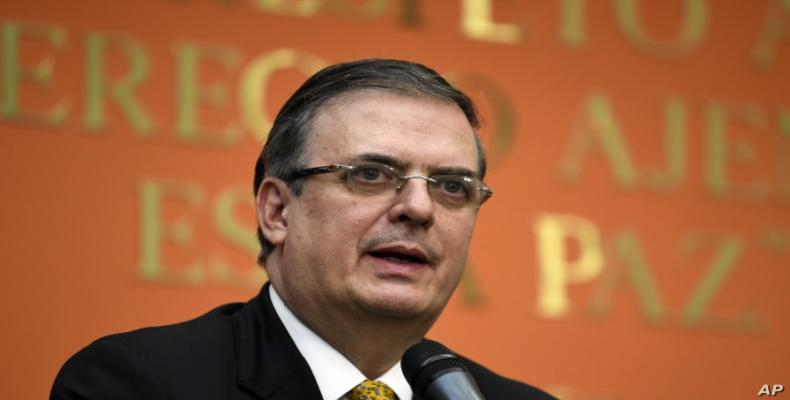 Mexican Foreign Minister Marcelo Ebrard.   (Photo: File)