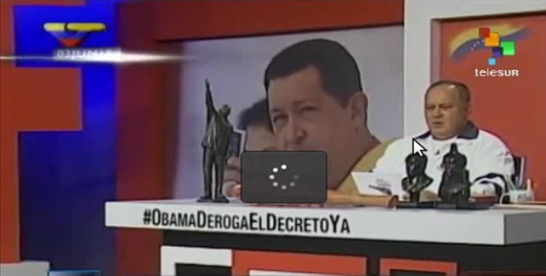 Cabello en programa Con el Mazo Dando