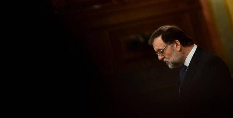 Forfalas Mariano Rajoy en Hispanio