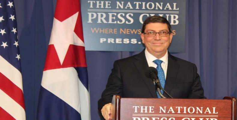 Bruno Rodriguez at the National Press Club in Washington D.C.