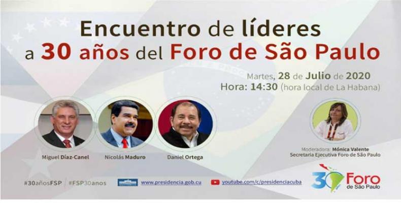 A sus 30 años, el Foro de Sao Paulo, un mecanismo de concertación de fuerzas progresistas de América Latina y el Caribe. Foto: PL.