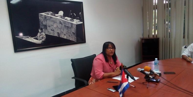 Deputy Minister of Foreign Affairs Anayansi Rodriguezç. Radio Rebelde Photo